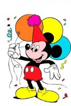 Mickey Mouse Birthday Wallpaper Disney Card