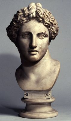 Apollo, head of Roman statue (marble), ?, (British Museum, London).
