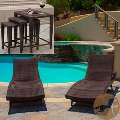 Christopher Knight Home Outdoor Brown Wicker 5-piece Adjustable Chaise Lounge Set | Overstock.com