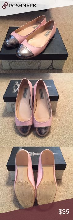 Marco santi blush pink silver toe flats These have been worn and do have some scuffs on them but they are still in great condition! Marco Santi Shoes Flats & Loafers