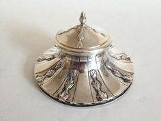 Antique Sterling Silver Ink Well, William Champion, 1907