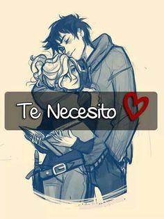 Te necesito en mi vida y no exagero eres mi razón y mi inspiración. Te amo!!! Percabeth, Adore You, I Love You, Girly Quotes, Love Quotes, Viria, Spanish Quotes, Heroes Of Olympus, Couple Drawings