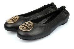 Tory Burch Black Nappa Leather Reva Ballet flat