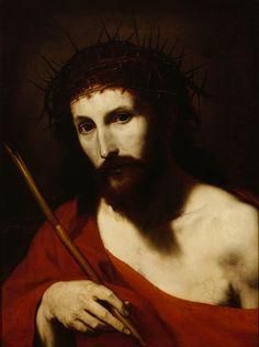 Ribera, Jusepe de: Ecce Homo (1644) Catholic Art, Religious Art, Spanish Art, Spanish Painters, Crown Of Thorns, Caravaggio, Jesus Cristo, Old Master, Christian Art