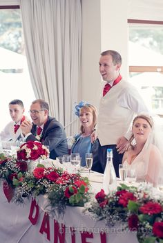 Brides Uncle Makes A Speech At Harmans Cross Village Hall Wedding Photography By One Thousand Words Photographers