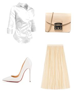 """office inspiration for Monday"" by szilvi-srei on Polyvore featuring Gucci, Christian Louboutin and Furla"