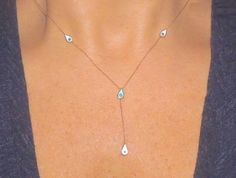 Dainty jewelry. Spoil yourself with this delicate choker necklace style, perfect gift. evil eye, diamond third eye lariat necklace Delicate diamanté choker necklace by Body Kandy Couture.