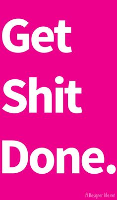 19Nov2014 Get Shit Done. The best and only goal planner you need in 2015 categories: Life Design