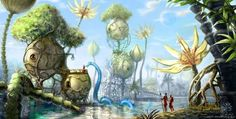 fantasy city alien world alternative reality parallel universe planet surreal illustration art painting