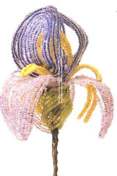 Д.Чиоти и её цветы из бисера ... создаем Ирис