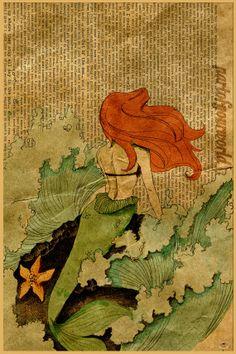 Disney's The Little Mermaid Original Poster by AliceofHeartsDesign, $17.50