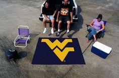 Collegiate West Virginia Tailgater Outdoor Area Rug