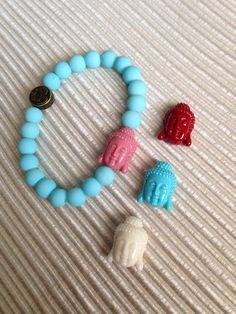 Customize your own bracelet combo. Choose your own color bead, charm or tassel and silk thread. on Etsy, $15.00