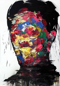 [199] untitled oil on canvas 162.2 x 112.1 cm 2013 by KwangHo Shin, via Behance
