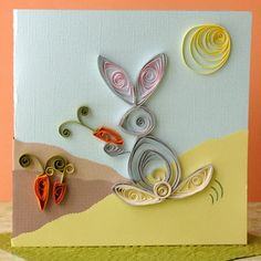beautiful quilled Easter card ~ idea could be used for any theme though