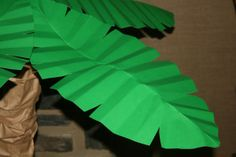 Palm Leaf use card stock and a cheap umbrella