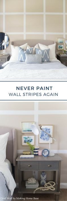 """Say """"goodbye"""" to painting wall stripes and """"hello"""" to a new way to stripe your wall. Easy Stripe by @wallsneedlove is a no stress, no hassle vinyl striping that makes striping your wall a breeze. No taping, measuring or paint required, just beautiful results!"""