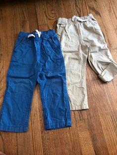 Toddler Boys 2 PAIR LOT KNIT PANTS Joggers NAVY /& ROYAL BLUE Lightweight 3T