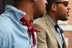<p>Nowadays, there is always some micro-trends popping up pretty much from nowhere. This neckerchief, silk scarf or neck bandana trend is a little bit more visible on women right now especially becaus