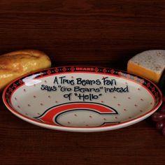 Chicago Bears True FAN Platter | eBay