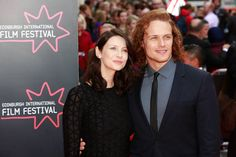 Sam & Cait at the Edinburgh Film Festival, June 2015 [Facebook: Outlander Italy]