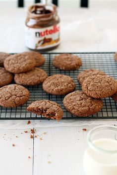 Nutella-kaurakeksit // Nutella-Cookies  Food & Style Tiina Garvey Photo Tiina Garvey www.maku.fi