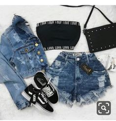 Love outfit hermoso🔥💕💞💓💗💖 - New Trend Cute Comfy Outfits, Edgy Outfits, Swag Outfits, Pretty Outfits, Girls Fashion Clothes, Teen Fashion Outfits, Cute Fashion, Outfits For Teens, Preteen Fashion