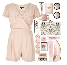 """JustPink"" by olecika-777 ❤ liked on Polyvore featuring River Island, Clarks, KOTUR, Miu Miu, J.Crew, Lancôme, Guerlain, Estée Lauder, Americanflat and women's clothing"