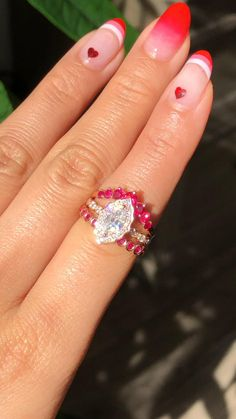 Ruby Wedding Rings, Wedding Bands For Her, Curved Wedding Band, Womens Wedding Bands, Wedding Rings For Women, Rose Gold Engagement Ring, Bridal Rings, Diamond Wedding Bands, Ruby Jewelry