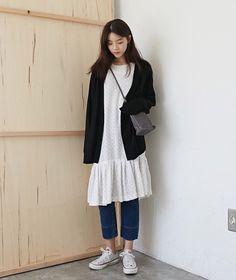 Asian long jumpers dress