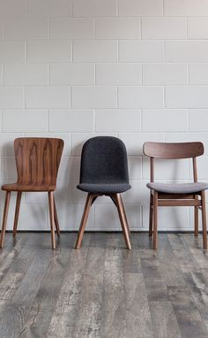 The great thing about dining chairs is that you can create one cohesive look by matching them, or go for an eclectic space by mixing different styles. For the refined, there's stripped back and beautifully exposed solid wood. For the cosy, a soft wool option that has a slight industrial touch with metal accents. And for the traditional, a schoolhouse-inspired mid-century modern chair with a curved back for support. Gather around the table, everyone. Shop all these chairs at Article.