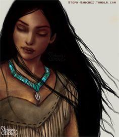 Explore amazing art and photography and share your own visual inspiration! Princess Pocahontas, Disney Pocahontas, Disney Princess Art, Princess Cartoon, Disney Fan Art, Disney Girls, Disney Love, Native American Tattoos, Black Girls