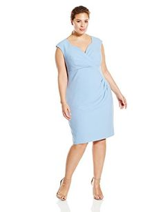6dc8db044bf online shopping for Adrianna Papell Women s Plus-Size Pleated V-Neck Sheath  Dress from top store. See new offer for Adrianna Papell Women s Plus-Size  ...