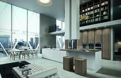 #design moderno, inondato di luce grazie alle grandi vetrate e agli spazi #openspace. Dalla cucina ad isola in legno ad una poltrona lunga per rilassarsi  Arrital Fenix a #moacasa14