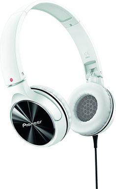 Pioneer SE-MJ532-W - Auriculares de diadema cerrados (1.2 m, 1000 mW), blanco y gris