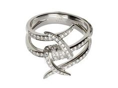 Now this is a diamond ring that I would actually wear.....barbed wire