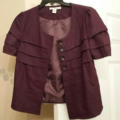 Cute purple fall jacket! Royal purple. What a nice way to look prim and proper or just extremely cute! Trinity Jackets & Coats Pea Coats