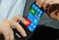 In 2015 Samsung will release the first products with a foldable OLED display, prototypes of these foldable displays were shown at CES 2014