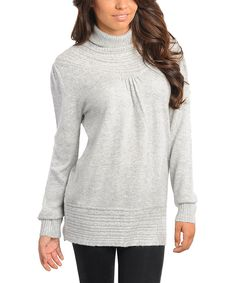 Gray Knit Turtleneck Sweater   Daily deals for moms, babies and kids