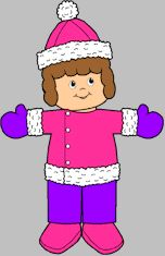 Winter clothing for MakingFriends.com paper dolls. Make a game out of dressing right