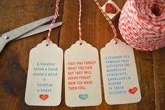 Free printable gift tags for teachers