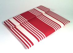 iPad Mini Case, iPad Mini Cover, iPad Mini Sleeve in red and cream stripe. $22.00, via Etsy.