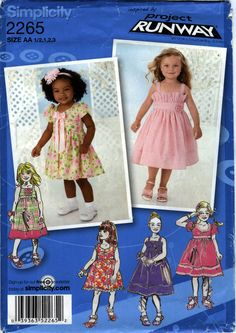 Simplicity 2265 Toddlers'/Child's Dress in Two Lengths with Bodice Variations