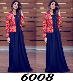 Blue And Red Taffeta Silk Stich Evening Gown with Jacket Shrug For Dresses, Indian Gowns Dresses, Pakistani Dresses, Long Dresses, Indian Designer Outfits, Indian Outfits, Gown With Jacket, Kurti With Jacket, Jacket Style