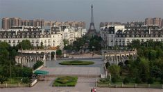 Tianducheng, in China's Zhejiang district, began in 2007. It was meant to be a luxurious gated community resembling Paris. The highlight of the town is its 354-foot replica of the Eiffel tower, but plenty of Paris' other landmarks have been faithfully recreated here. The development was built to house 100,000 people and to draw rural families into a bustling metropolitan area. As of 2007, (the last time the population was counted), only 2,000 souls inhabited the gated compound.