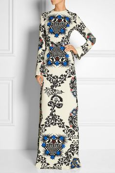 MSGM | Printed crepe maxi dress | NET-A-PORTER.COM