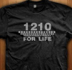 Grab yourself a 1210 DJ t-shirt and celebrate the most awesome turntable ever made. We only use Premium quality super soft shirts including Gildan and