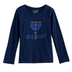 "Girls 4-10 Jumping Beans® Hanukkah ""Love & Light"" Tee"