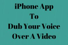 Dub Your Voice over Videos and Share Them with Friends