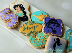 Princess Jasmine Birthday Cookies #Jasmine #Aladdin